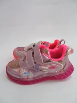 Buty sportowe dziecięce 26-31, L-252 SILVER/PINK